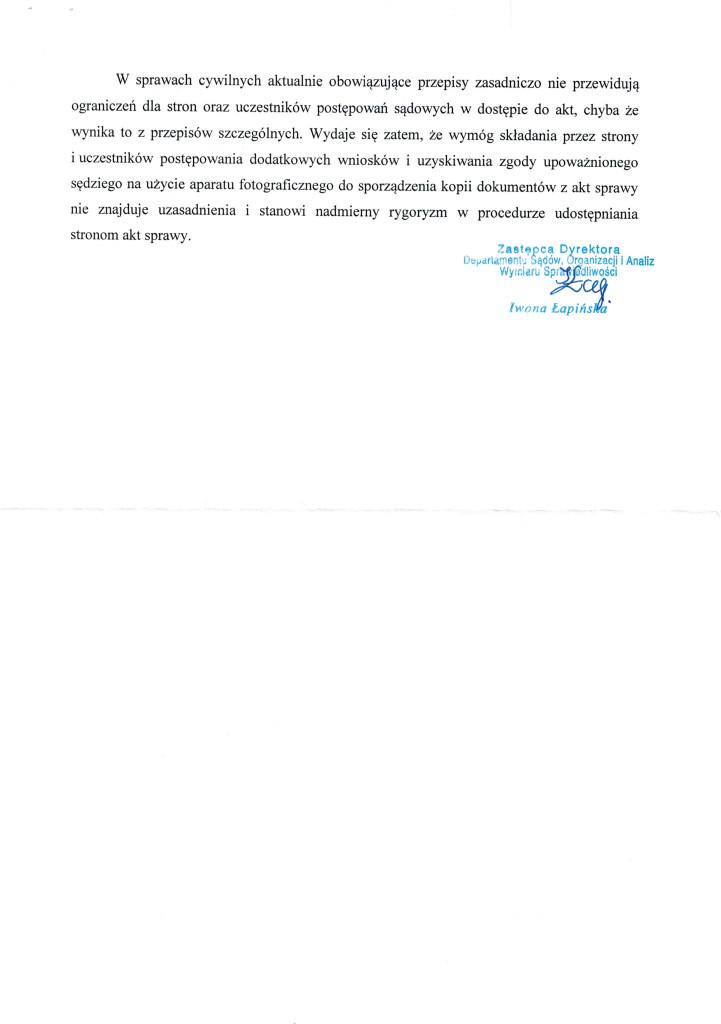 Pismo MS ws Fotografowania AKT20150216